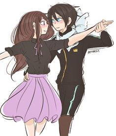 """Yato, where did you learn to dance so well?"" by pemprika @ tumblr"