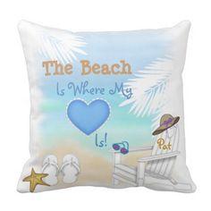 CUSTOM Beach Lovers Perfect Gift Pillow