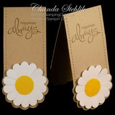 Stampin' Up!  Two Tags Bookmark  Chandra Stehlik