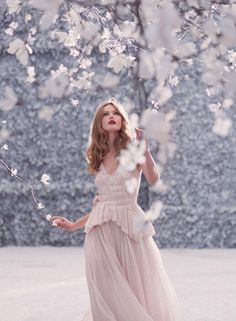 ❀ Flower Maiden Fantasy ❀ beautiful photography of women and flowers - Frida Gustavsson | Nina Ricci 2013