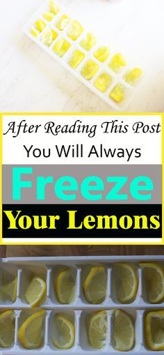 Why should you freeze lemons? Is there anything special about froze lemons? Why should you freeze lemons? Is there anything special about froze lemons? Definitely, find out what! Healthy Tips, Healthy Snacks, Healthy Eating, Healthy Recipes, Healthy Drinks, Easy Recipes, Freezing Fruit, Freezing Lemons, Cooking Tips