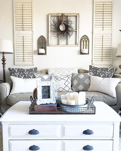 Love this idea for above the couch! More