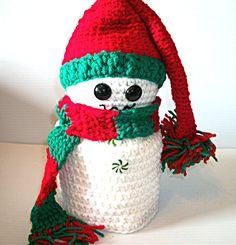 Christmas Snowman Toilet Paper Cover