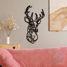 Metal Bird Wall Art, Origami Wall Art, Office Wall Decor, Metal Walls, Home Art, Deer, Art Pieces, American Baby, Native American