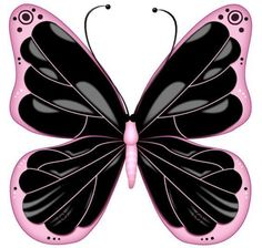 Сообщения Butterfly Clip Art, Butterfly Images, Butterfly Wallpaper, Butterfly Pattern, Pink Butterfly, Art Papillon, Papillon Rose, Preto Wallpaper, Beautiful Butterflies