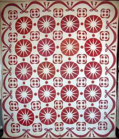 Amazing Antique quilt! My favorite colors, too!