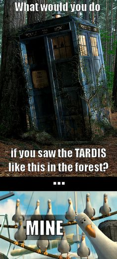 What would you do if you found the TARDIS like this in the forest? #tardis #doctorwho #thedoctor