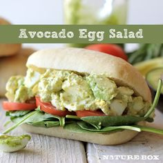 Avocado Egg Salad (made with Greek yogurt!)