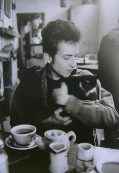 Bob Dylan and cat