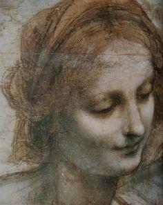 Léonardo da Vinci (1452-1519) étude pour La vierge- Sainte- Anne et Saint Jean-Baptiste vers 1499