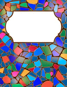 Free printable stained glass binder cover template. Download the cover in JPG or PDF format at http://bindercovers.net/download/stained-glass-binder-cover/