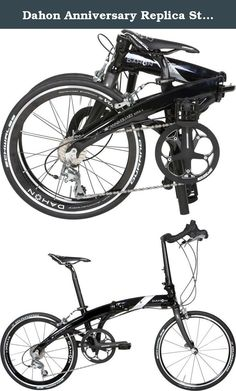 Dahon Anniversary Replica Stellar Folding Bike Bicycle Black. Authorized dealer-warranty valid.PEDALS NOT INCLUDEDReplica closely resembles the original w/out sacrificing quality/design.FRAMEFrame: PA SERIES - DALLOY, CUSTOM DRAWN SONUS TUBING, FORGED LATTICE HINGE, FUSION AND V-CLAMP TECHNOLOGY, FOR 451 mm WHEELSFork: CARBON FIBER, WIDTH, 75 mm, NO PIVOT, MAGNET TAB, W/FENDER HOLE (CALIPER BRAKE)COCKPITHandlepost: FORGED ALLOY FOR CONTROL, TECHNOLOGY BULL HORN, RADIUS FUSION AND V-CLAMP...