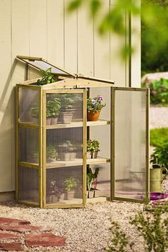 Add a greenhouse to your backyard or patio.