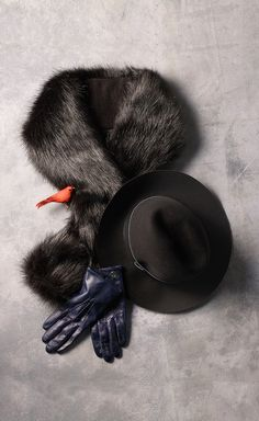 A little bird told us that faux fur and felt hats are having a fashion moment. *Tommy Hilfiger NYE challenge*
