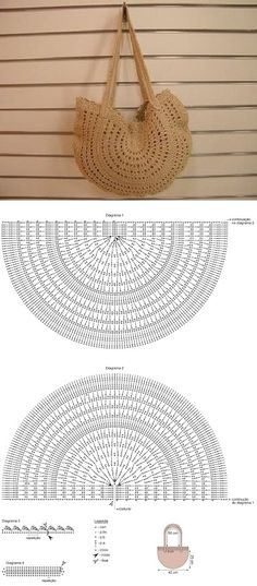 Crochet basket diagram ganchillo 16 ideas for 2019 Crochet Diy, Love Crochet, Crochet Ideas, Simple Crochet, Crochet Diagram, Crochet Chart, Crochet Stitches, Crochet Handbags, Crochet Purses
