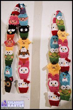 crocheted Sanrio scarf