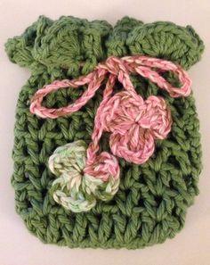 Crochet Soap Sack  Party Bag Favor  Mini Tote by FiberArtCrochet, $8.00