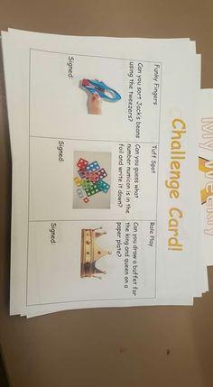 Challenge cards