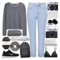"""""""// cherry lips crystal skies //"""" by lace-and-glitter ❤ liked on Polyvore featuring MANGO, Topshop, Madewell, Frette, NIKE, Acne Studios, Pelle, Bobbi Brown Cosmetics, Crate and Barrel and inspirationsetchallenge"""