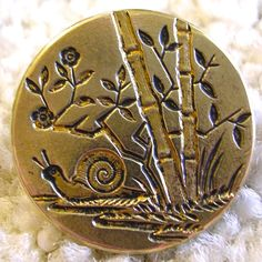 Antique French SNAIL button.