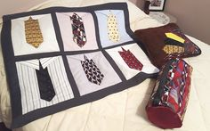 Necktie projects Quilts, Blanket, The Originals, Bed, Projects, Pattern, Home, Design, Log Projects