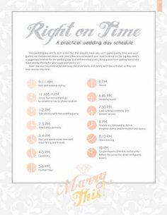 Bridesmaids Big Day Time line – Wedding Day Time line (Digital ...