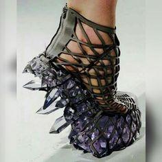 Amethyst   Crystal Shoe Art! Unique Shoes 63d36a987
