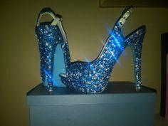 Something Blue Swarovski Crystal Shoe by Blingedoutbliss on Etsy, $365.00  For liza