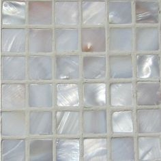 """Micromosaic natural varied mother of pearl tiles come on 12"""" x 12"""" mesh for easy installation for kitchen backsplashes, mirrors, headboards, tabletops, and many other creative home decor installations. $16.99 per square foot"""