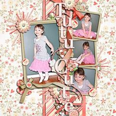 Very cute idea for scrapbook page or even a framed scrap page wall art.
