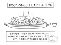 Food Snob Fear Factor - New Yorker Cartoon Premium Giclee Print