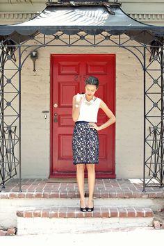 @Judith de Munck Bryson Mercedes   Style Me Grasie is look chic in her @cheryl ng Blondin Monaco skirt! #YouBoughtIt