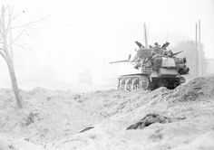 French M4A3 76mm Sherman in action, April 1945.