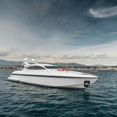 """""""BRING OFFERS"""" the immaculate 92"""" Mangusta Papillon is for sale and available for the summer after just undergoing her 10 year survey. Please contact Charlie@yachtmasters.com for further details. #superyacht #mangusta #superyacht #yachtcharter #yachtsales #YACHTMASTERS image by @gfwilliams by yacht_masters"""