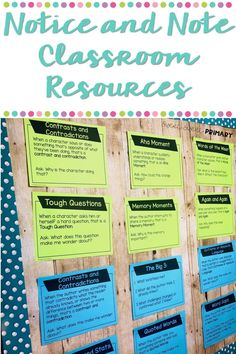 Notice and Note Posters and Reading Responses Comprehension Strategies, Reading Strategies, Reading Comprehension, Social Studies Resources, Reading Resources, 4th Grade Reading, Student Reading, Reading Response, No Response