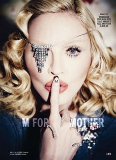 Inside the magazine, Madonna has one eye hidden and proving, once again, that she is 100% on board the occult elite's agenda.
