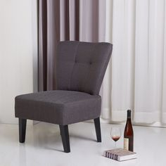 Sitswell Maddie Charcoal Grey Contemporary Accent Chair