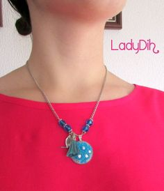 Fio curto feito em cerâmica plástica. Jewelry clay / fimo http://ladydih.blogspot.pt/ https://www.facebook.com/LadyDihh