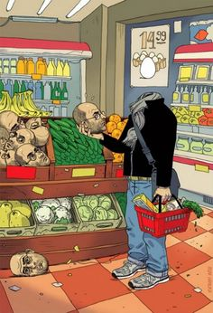 14 illustrations percutantes qui illustrent les maux de notre société