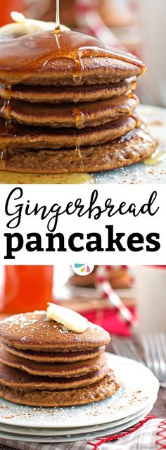 How to make these gingerbread pancakes. #breakfast foods The best soft and fluffy Gingerbread Pancake recipe! This is perfect for breakfast on Christmas morning because they are super quick and easy to make! You will love those pancakes that taste like gingerbread cookies! Douse them in maple syrup and enjoy a festive holiday breakfast.   #recipes #christmasrecipes #gingerbread #pancakes #brunch #breakfast #food #yum #yumyum #yummyfood #recipeoftheday #holidayrecipes