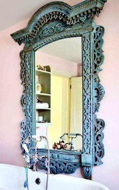 love this blue mirror