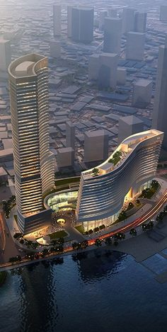 Xiamen Eton Center North Tower, China, by NBBJ Architects #rascacielos #edificios #skyscrapers #buildings