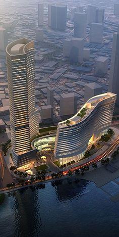 Xiamen Eton Center North Tower, Xiamen, China #architecture ☮k☮