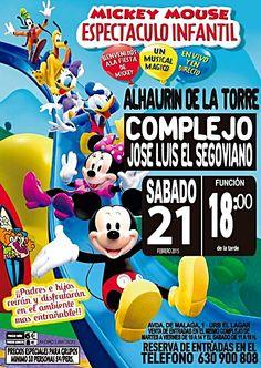"""SABADO 21 DE FEBRERO A LAS 18.00 H.  La Gran Fiesta de Mickey y sus amigos.  Un """"Mundo Mágico"""" donde se consigue a modo de interacción y participación la colaboración y la complicidad con el publico. Donde padres e hijos reirán y disfrutaran en el ambiente mas entrañable."""