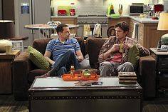 """Jon Cryer and Ashton Kutcher in Two and a Half Men from """"Grandma's Pie"""""""