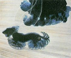 Dynamisch: Je ziet dat het hondje en de mevrouw lopen door de beweging