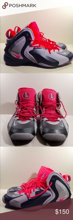 Nike LIL Penny Posite Wolf Grey Hyper Pink LIL Penny Posite Basketball Shoes Wolf Grey Hyper Pink size 11.5  almost new only one wear Nike Shoes Sneakers
