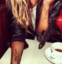 Words on arm; great tattoo placement