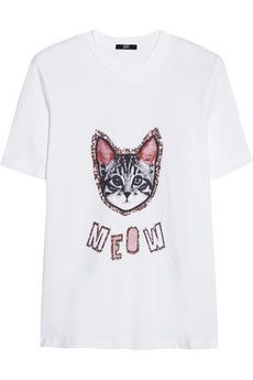 Markus Lupfer Meow Alex printed cotton-jersey T-shirt Printed Cotton, Printed Shirts, Markus Lupfer, Frame Denim, Casual Outfits, T Shirt, Prints, Mens Tops, Clothes
