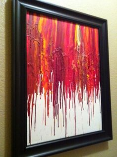 Several versions of the melted crayon canvas art that was everywhere last year. Some of these are very clever.